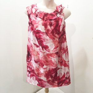 STUDIO 1 Size 14W Dress Pink Red Floral Sheath